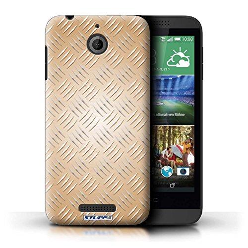 Kobalt® Imprimé Etui / Coque pour HTC Desire 510 / Rose conception / Série Motif en Métal en Relief Or