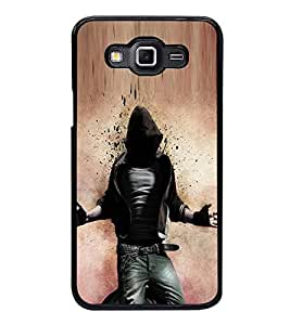 Fuson Premium 2D Back Case Cover Rocking Man With Pink Background Degined For Samsung Galaxy Grand Max G720