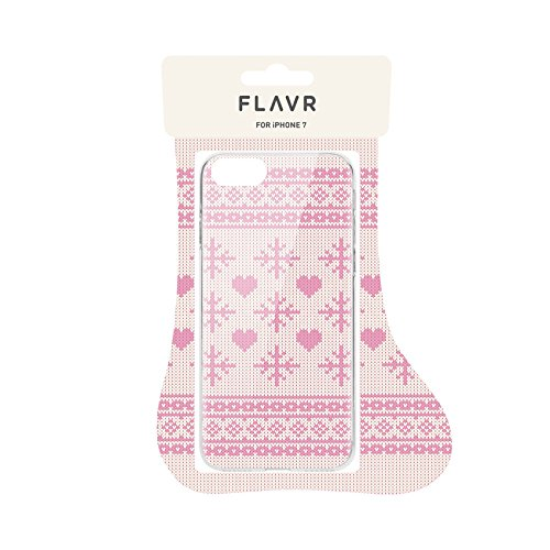 Flavr 26975 Coque pour iPhone 7 Motif Ugly Xmas Sweater Vert Rose