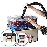 ISENPENK Vakuum Aufbewahrungstasche Vakuum Soft Box mit Schnallen für Bettdecken Bettwäsche Kissen Kleidung Verschiedene Stoffe Wieder verwendbar 3 Mal Platz Sparen