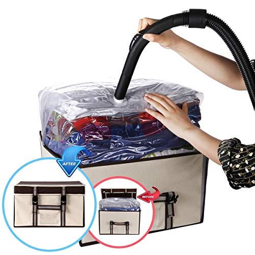 ISENPENK Vakuum Aufbewahrungstasche Vakuum Soft Box mit Schnallen für Bettdecken Bettwäsche Kissen...