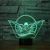 BINGXY Novità 3D Nuoto Modellazione NightLight USB Colorato Visual LED Lampada da tavolo Touch Button Sleep Light Fixture Regali Bedroom Decor