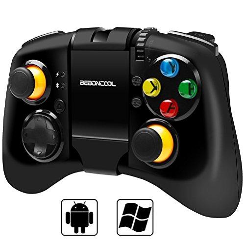 Preisvergleich Produktbild BEBONCOOL Bluetooth Game Controller Gamepad mit verstellbarem Halterung für Android handy / Tablets / TV Box / Gear VR