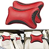 #7: Autofy Universal Ultra Soft Bow Shaped Car Cushion/Neck Rest for All Cars (Black and Red)