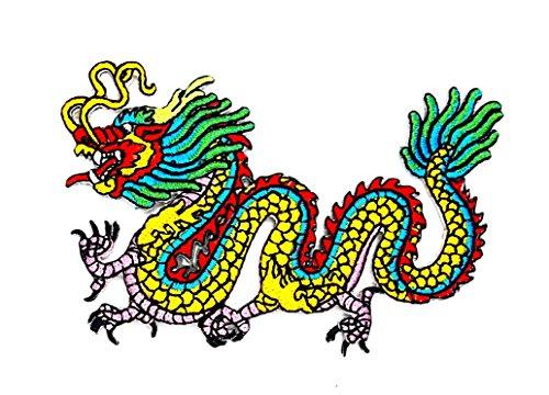 Little Bear Shop Cartoon Patches Parche Bordado a Mano para niños con diseño de dragón Chino y Dibujos Animados