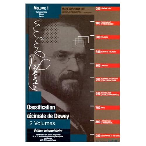 Classification décimale Dewey et Index : 2 volumes