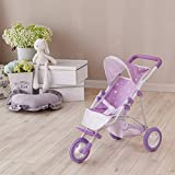Olivia's Little World - Poussette de Jogging pour Bébé - Violet/ Etoiles