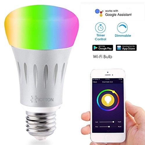 Smart LED Birne B & T WiFi Glühbirne Smart Phone Fernbedienung dimmbar verfärbt, iOS und Android Smartphone Fernbedienung