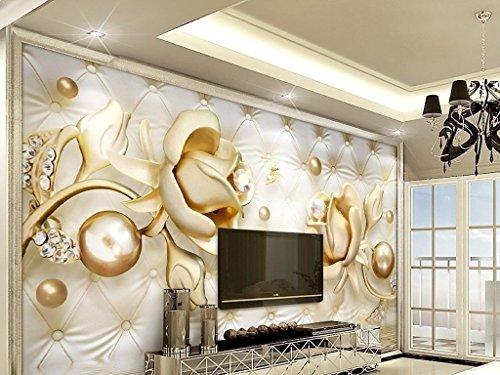papier-peint-papier-peint-photo-non-tisse-3d-luxe-bijoux-golden-rose-kn-ballon-de-1017-papier-b-368c