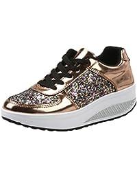 44ebbfc528d1 Amazon.co.uk  Gold - Lace-Up Flats   Women s Shoes  Shoes   Bags