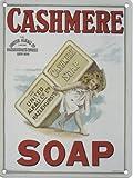 CASHMERE SOAP Metall blechschild nostalgie 400mm X 300mm