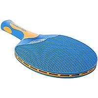 Lovelysunshiny Doble Pescado plástico Tenis de Mesa Solo Bate Raqueta de Tenis de Mesa