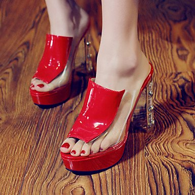 LFNLYX Donna Sandali Primavera Estate Autunno altri PU Ufficio Outdoor & Carriera Casual Chunky Heel altri Nero Rosso Bianco Altri White