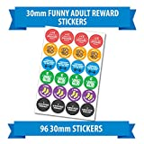 "96 30mm ""FUNNY ADULT"" reward stickers adulted"