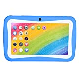 Fulltime E-Gadget Tablette, 7 Zoll Kinder 1024 * 600 Tablet 1G+8G Android A33 Quad-core Wireless 3000 mA Batterie WiFi Foto Learning Home Teaching Studenten (Blau)