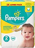 Pampers New Baby Size 2Mini 3-6kg/6-13lbs Jumbo Pack 68Nappies