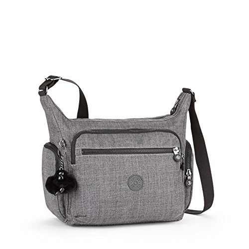 a006094bf9 Kipling Gabbie, Sacs bandoulière femme, Gris (Cotton Grey), 15x24x45 cm (