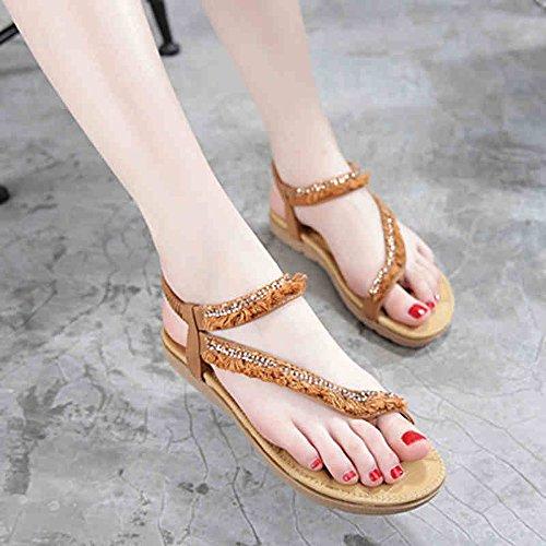 Pente avec sandales à talons hauts à bascule --- Sandales pour femme Soles légères d'été Outdoor Casual Casual Talon plat Marcher --- Herringbone fashion sweet Sandals 1002