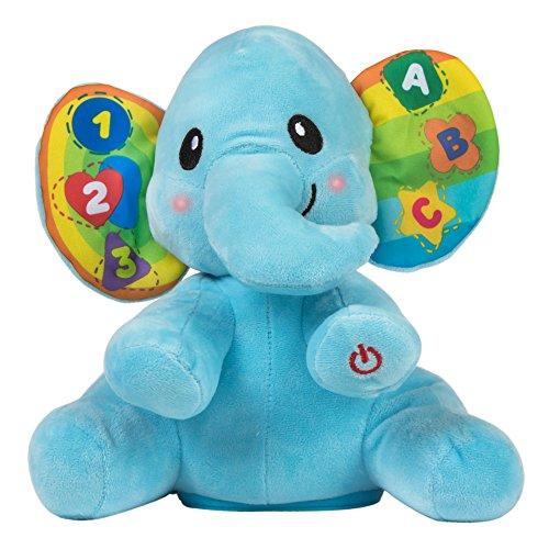 Winfun - Elefante educativo con luz y sonido, Colore Azul,...
