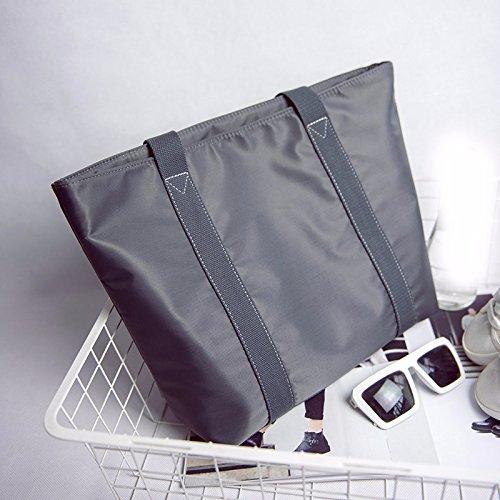 GUMO-Borsa da spiaggia, borsa di tela, impermeabile, nylon borsa a tracolla, oxford tessuto, semplice, casual, borsetta,nero gray