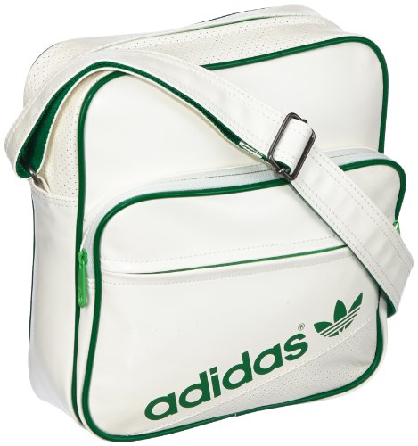adidas, Borsa a tracolla AC Airline, Bianco (white/fairway/green zest s13), 28 x 11 x 30 cm