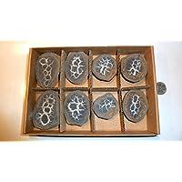 Septarie, Geode, Septarien-Paare, 8 Stück, ca.455g, mit wunderschönen Strukturen. preisvergleich bei billige-tabletten.eu