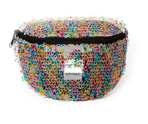 Spiral Feathered Sequins - Rainbow Bum Bag Gürteltasche 23 Centimeters 2 Mehrfarbig (Multicolour) -