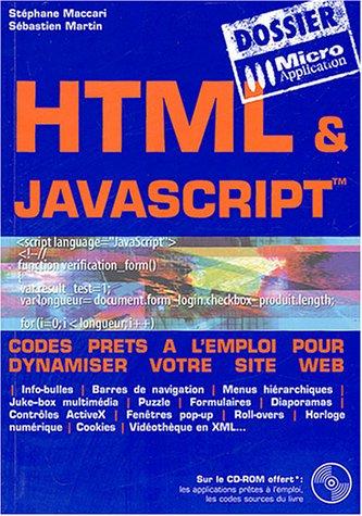 HTML & JavaScript par Stéphane Maccari, Sébastien Martin