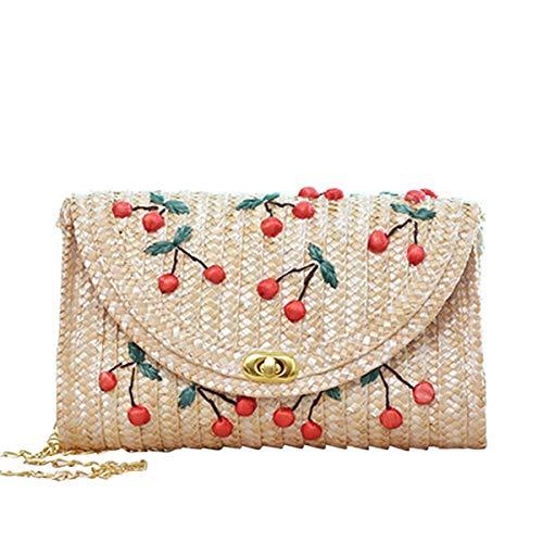 Mini Cute Straw Clutch Handtasche Frauen Stroh Geldbörse Umschlag Tasche Brieftasche Sommer Strandtasche -