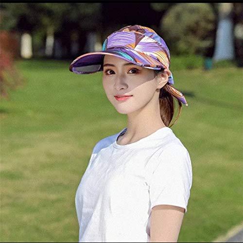 menhut weiblichen Sonnenhut schnell trocknende Kappe großen Strandhut Baseballmütze 2 56-62cm ()