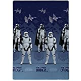 Star Wars Commando Bedruckte Bettdecke, Polyester, Blau, 140 x 200 cm