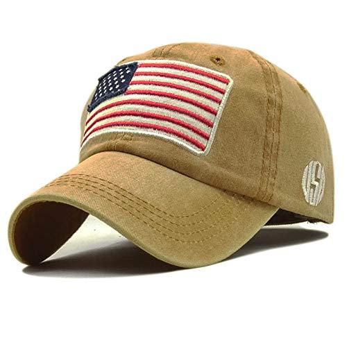 SKAMAO Baseball Kappe Kappe Gewaschen Baumwolle Baseballmützen Stickerei Hut Für Männer Frauen Amerika Brief Hip Hop Cap Gelb