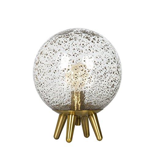 Emery Glas (Nordic Home Tischleuchte, Creative Emery Glas Lampenschirm, Metall Lampe Körper Hotel Wohnzimmer Tischlampe)
