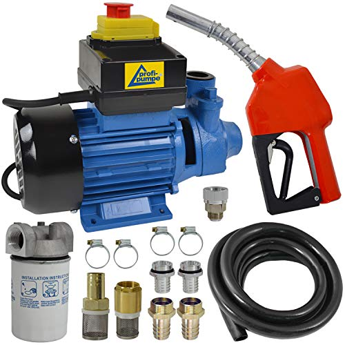 Dieselpumpe Ölpumpe Heizölpumpe Profi-230V, JETZT MIT EXTRA-Ersparnis! 230V ELEKTRO FASS-Pumpe mit Schlauch, Diesel-Filter mit Gehäuse; Zapfpistole und QUALITATIV-HOCHWERTIGEM Zubehör -
