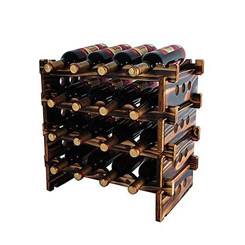 H.Yue Stackable Modular Wine Rack 16 Bottle Wine Rack (19.6