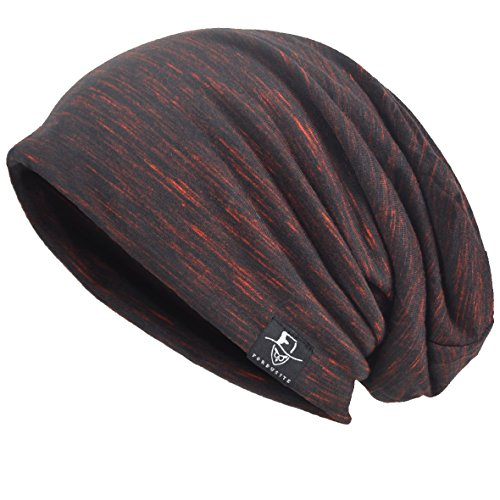 Herren Slouch Hollow Mütze Thin Sommer Cap Strickmützen Beanie Skullcap (Multi-Rotwein)