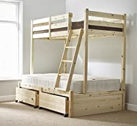 Three sleeper bunk bed - double Triple sleeper bunkbed - HEAVY DUTY - Can be used by adults