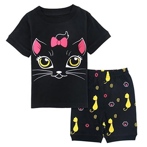 Mombebe-Bambina-Unicorno-Pigiama-Corto-Ragazze-Estate-Pajamas-Set