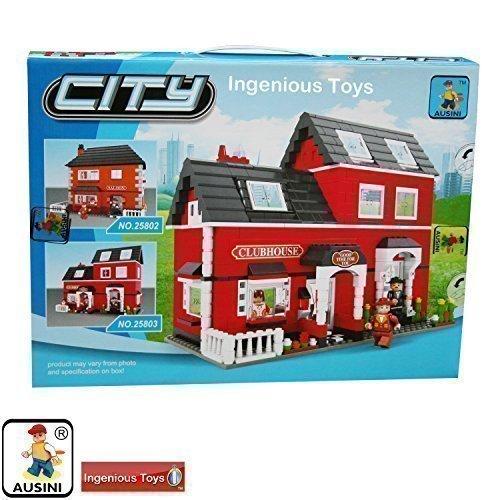 Casa Cubos Rojo Grande Villa FAmilia Set Amigos Ciudad Nuevo #25803