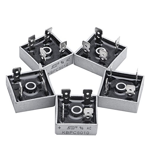 5 X KBPC5010 1000V 50A Metallgeshov228verwenden 4 Pin Single Phase Diode Bridge Rectifier