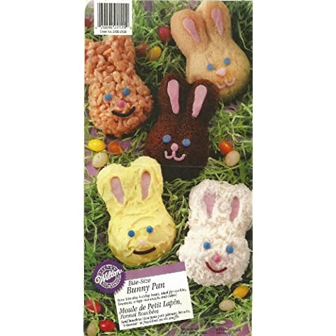 Wilton Bite-size Petite Bunnies Cake Pan Cookie Brownie Treat Mold ~ 9 Cavity by Wilton
