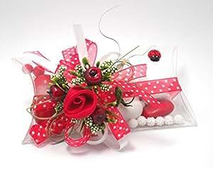 Bomboniera Laurea confezione con fiori e mele