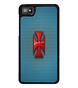 PrintDhaba Cross D-1777 Back Case Cover for BLACKBERRY Z10 (Multi-Coloured)