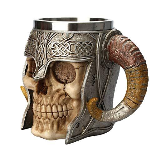 Fenteer 3D Totenkopf Schädel Skull Drink Cup Trinkbecher Kaffeetasse Kaffeebecher Becher Dekoration für Halloween Party
