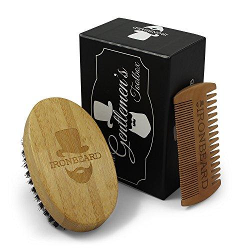 Gentlemens Toolbox Bartbürste und Kamm Bartpflege Geschenk-Set von IRONBEARD