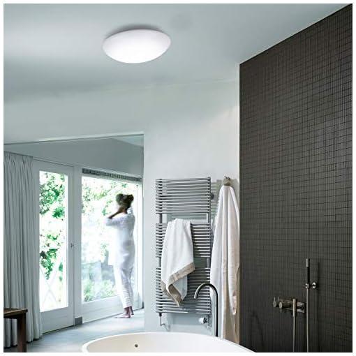 Plafoniera a LED, lampada da parete con sensore di movimento, luce bianca neutra 4000K, 15W, 1500Lm illuminazione per esterni come balcone o per interni come il bagno, metallo e plastica, 230V IP44