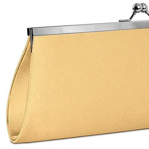 CASPAR Taschen & Accessoires, Poschette giorno donna oro chiaro
