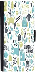 Snoogg Lifestyle Pattern 2562 Graphic Snap On Hard Back Leather + Pc Flip Cov...