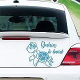 wandaufkleber schlafzimmer schwarz Personalisierter Name Baby An Bord Und Schildkröte Für Autofensterlaptopaufkleber