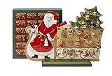 Villeroy & Boch Christmas Toys Memory Adventskalender Schlitten, Porzellan, Rot, 54x 21x 40cm